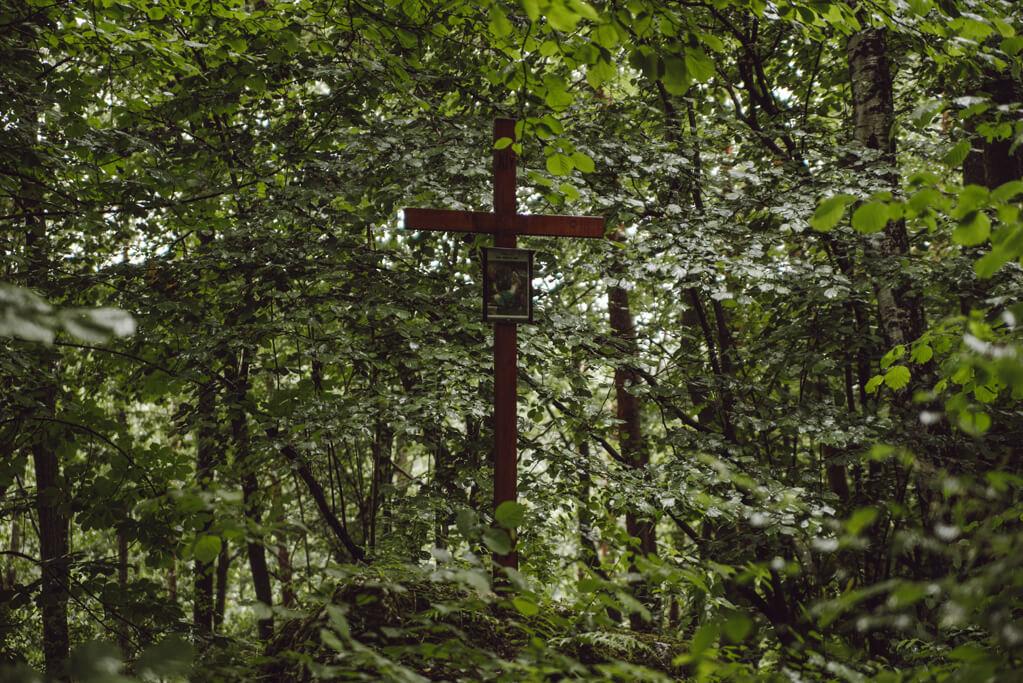 Krzyż na drodze krzyżowej w Aleksandrowicach