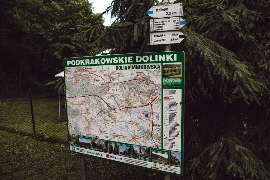 Mapa Dolinek Krakowskich