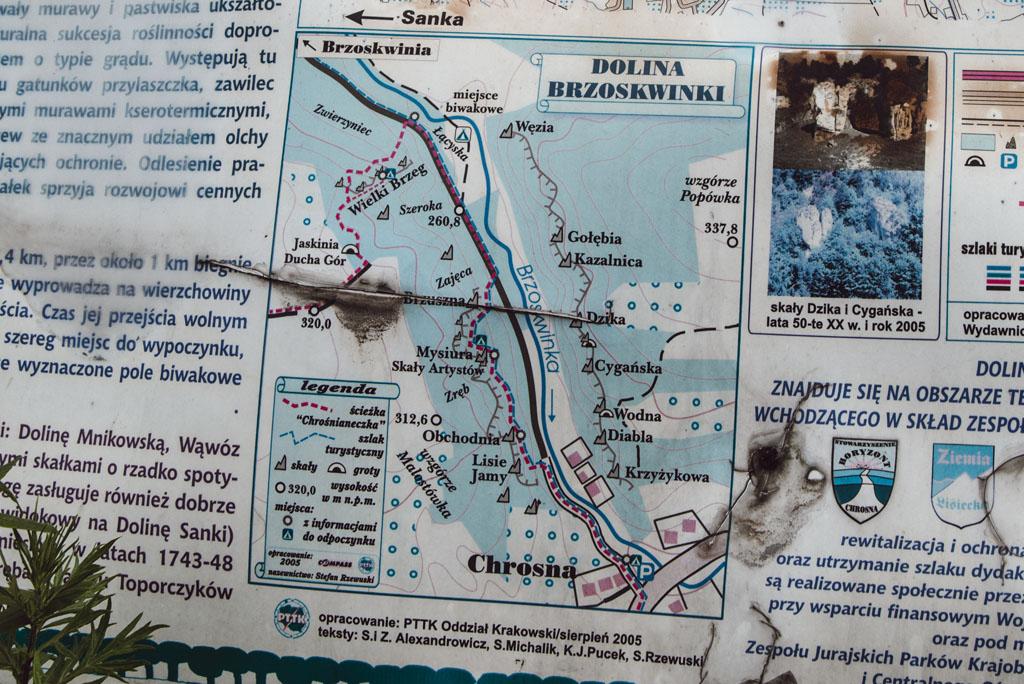 Mapa Doliny Brzoskwinki