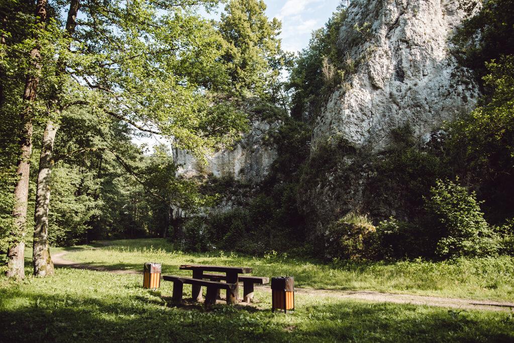 Miejsce odpoczynku w Dolinie Mnikowskiej