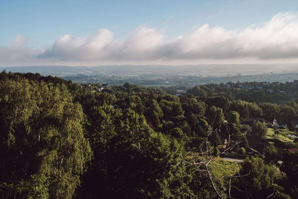 Widok z Dębowej Góry