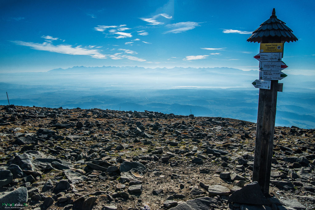 Babia Góra - oznakowanie szczytu