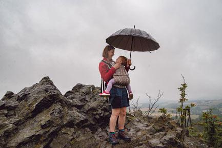 Czartowska Skała na Pogórzu Kaczawskim