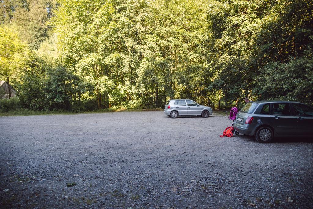 Dolina Racławki - parking