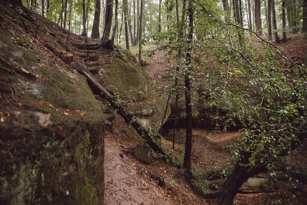 Formacje skalne pod Wilczą Górą