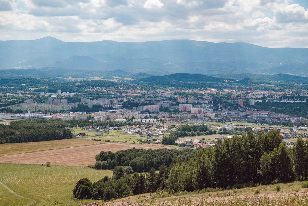 Jelenia Góra - widok z Szybowcowej Góry