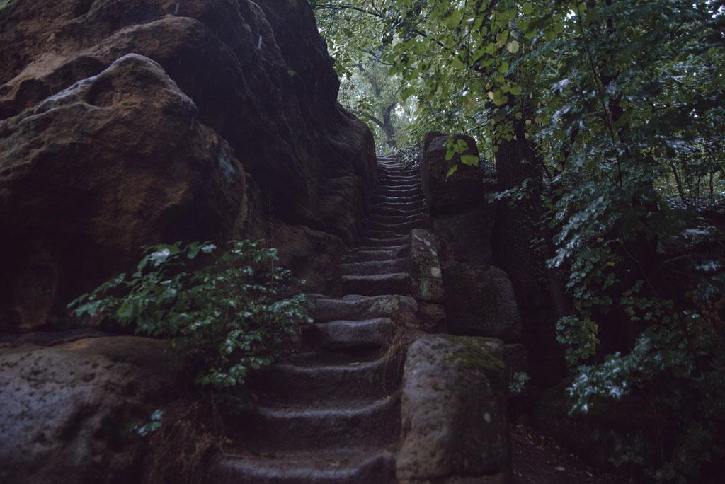 Kamienne schody na Krucze Skały