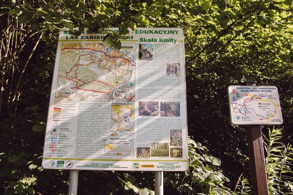 Mapa trasy do Skały Kmity