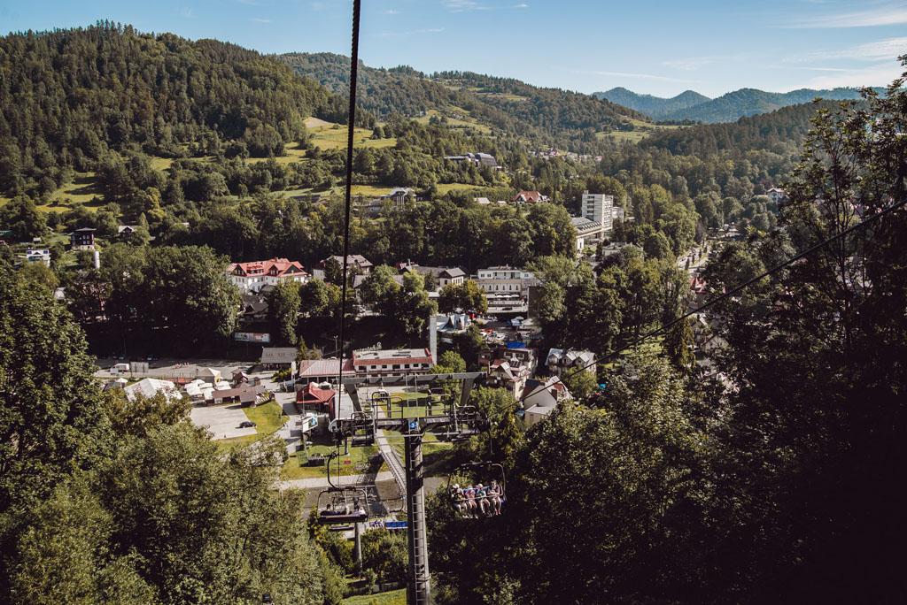 Szczawnica - widok na góry