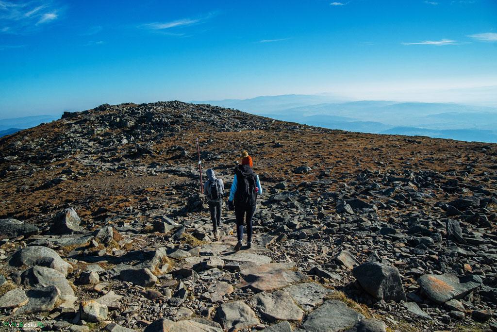 Szlak na Babią Górę z Przełęczy Krowiarki