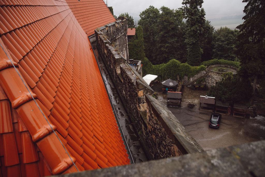Zamek Grodziec - dach