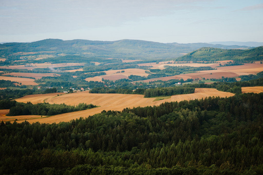 Gozdno - krajobrazy z wieży widokowej