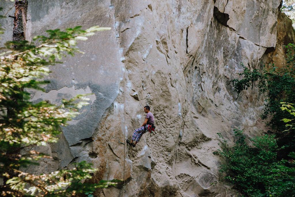 Kamień Leski do wspinaczki