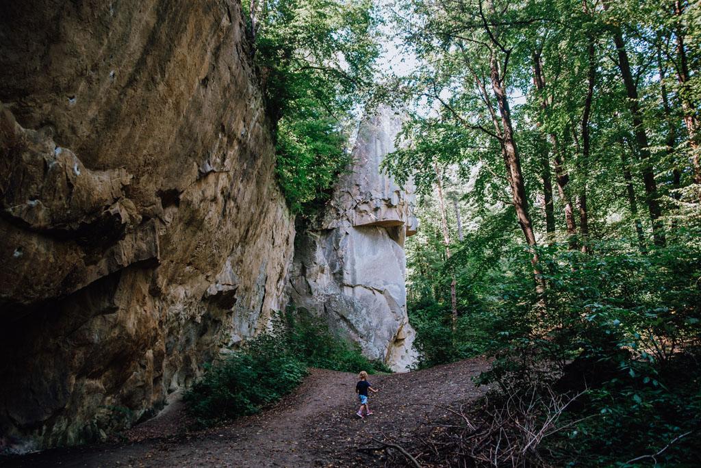 Kamień Leski z dzieckiem