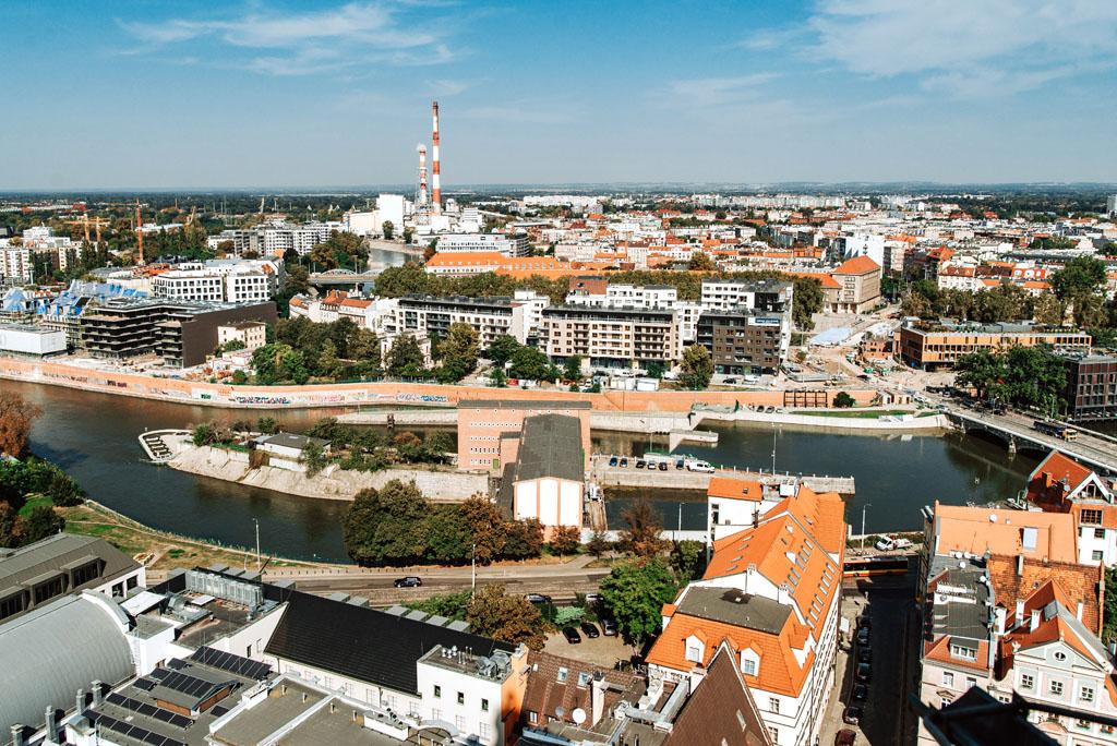 Widok z kościoła Elżbiety Wrocław