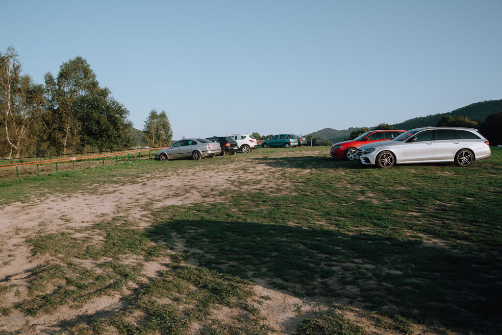 Klimkówka - parking