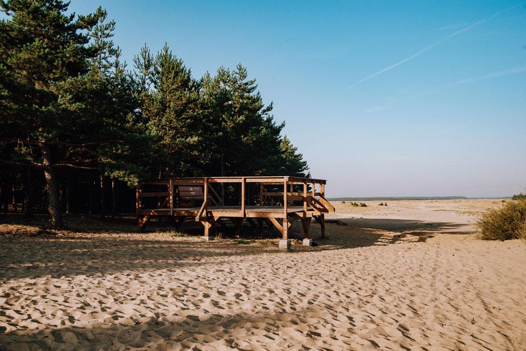 Platforma widokowa na Pustyni Błędowskiej