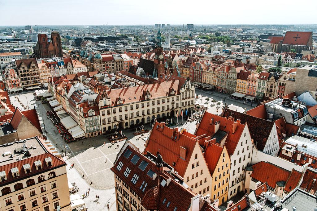 Wrocław rynek z punktu widokowego