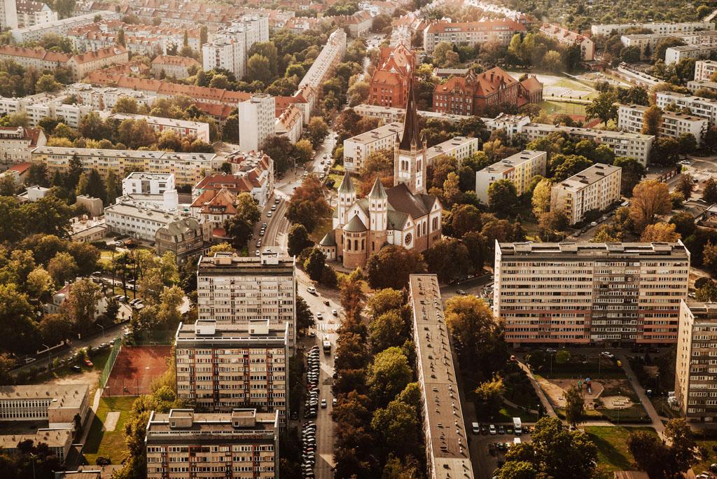 Widok na Wrocław ze Sky Tower