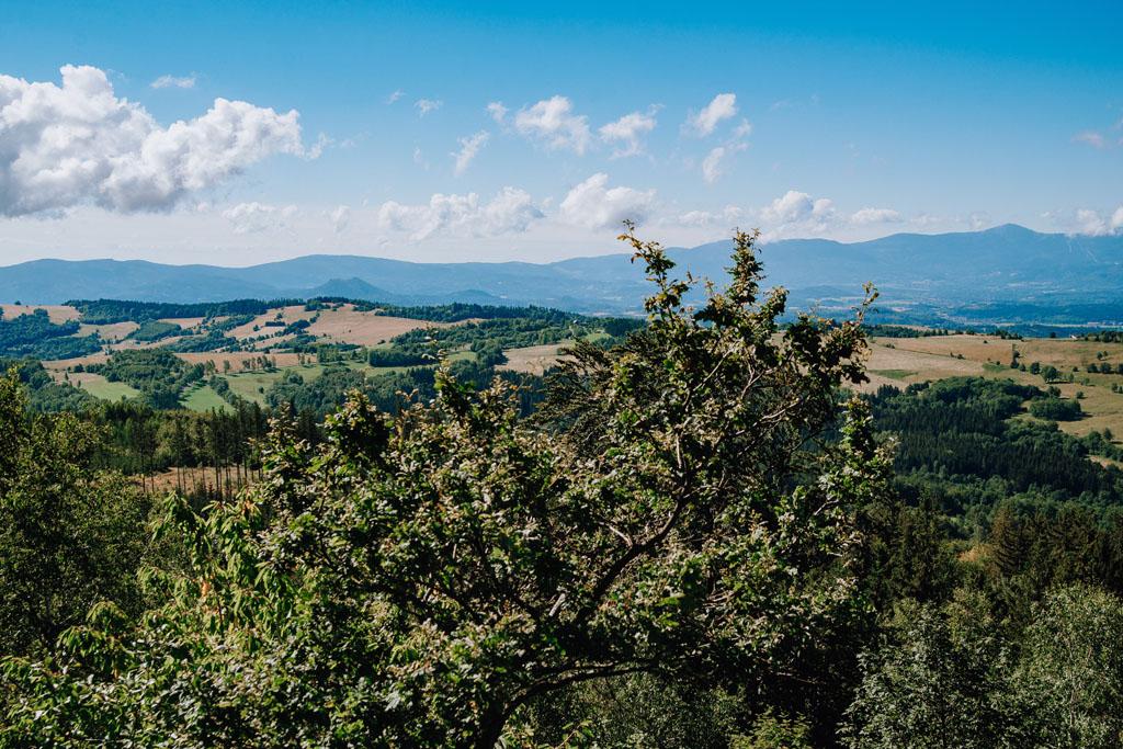 Widok na Karkonosze i Góry Kaczawskie