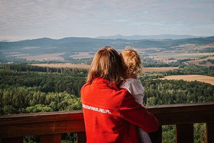 Wieża widokowa w Gozdnie na Pogórzu Kaczawskim