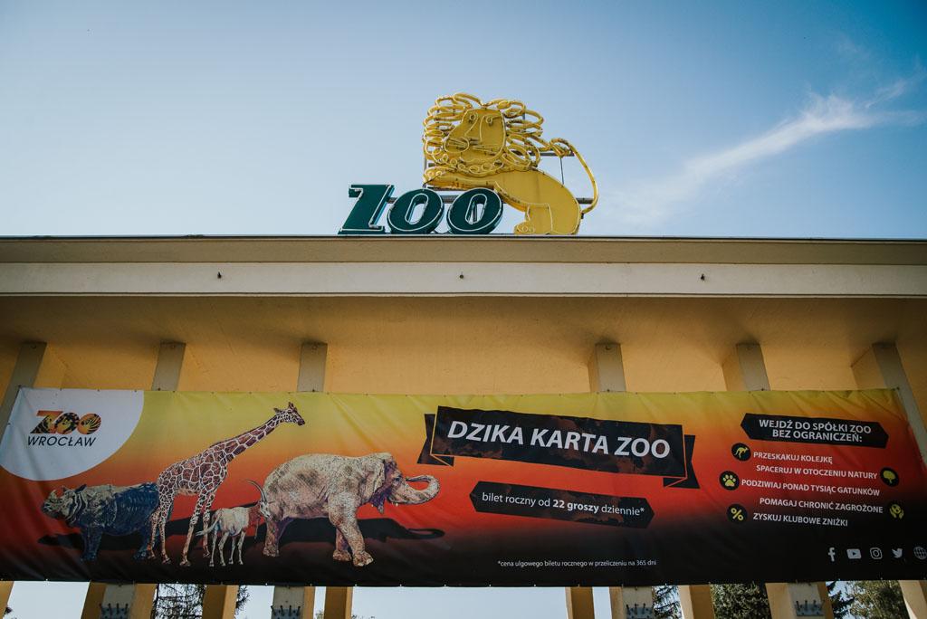 Zoo Wrocław - wejście od Wróblewskiego