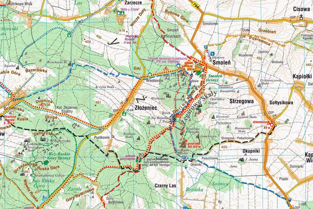 Mapa Doliny Wodącej