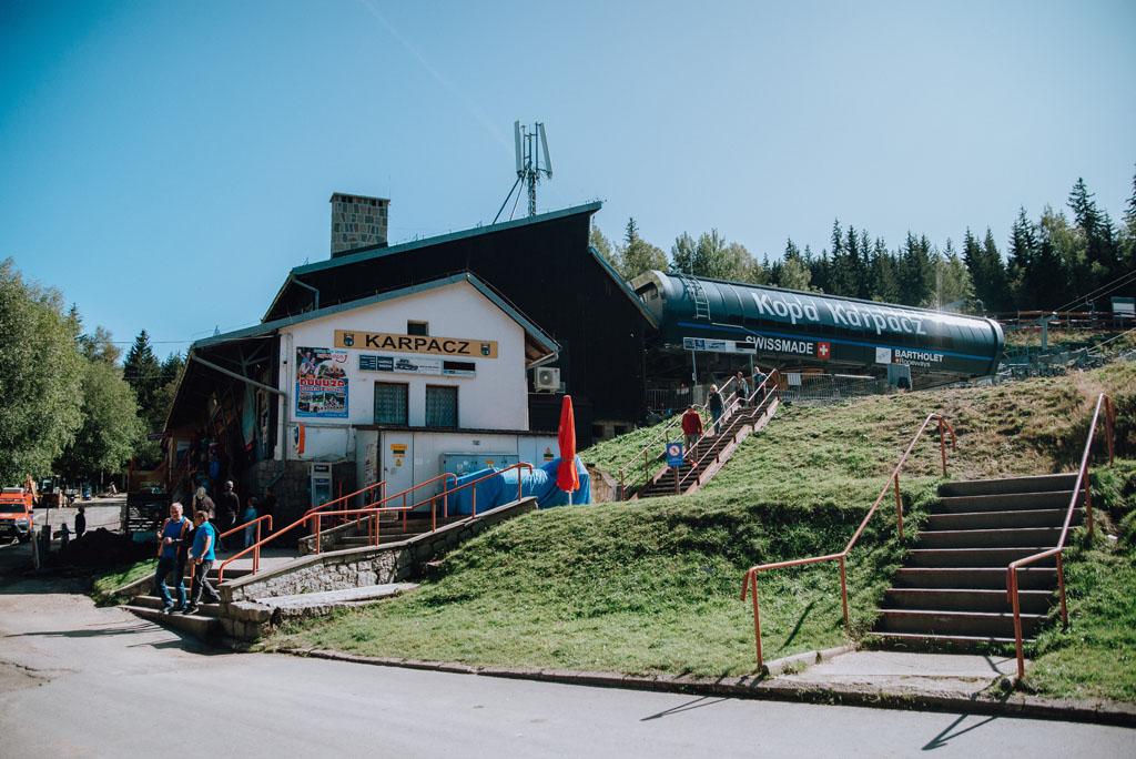Dolna stacja kolejki na Kopę w Karpaczu