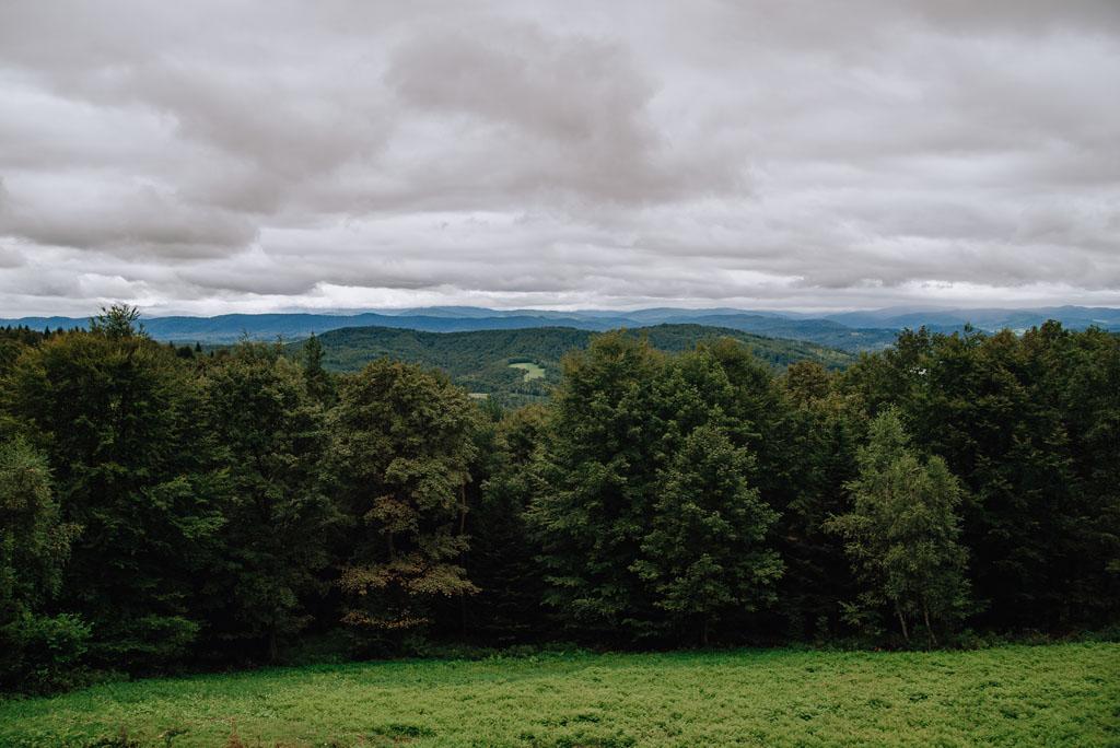 Widoki z Holicy na Bieszczady