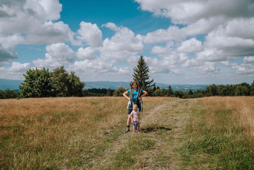 Łysa Góra z dzieckiem