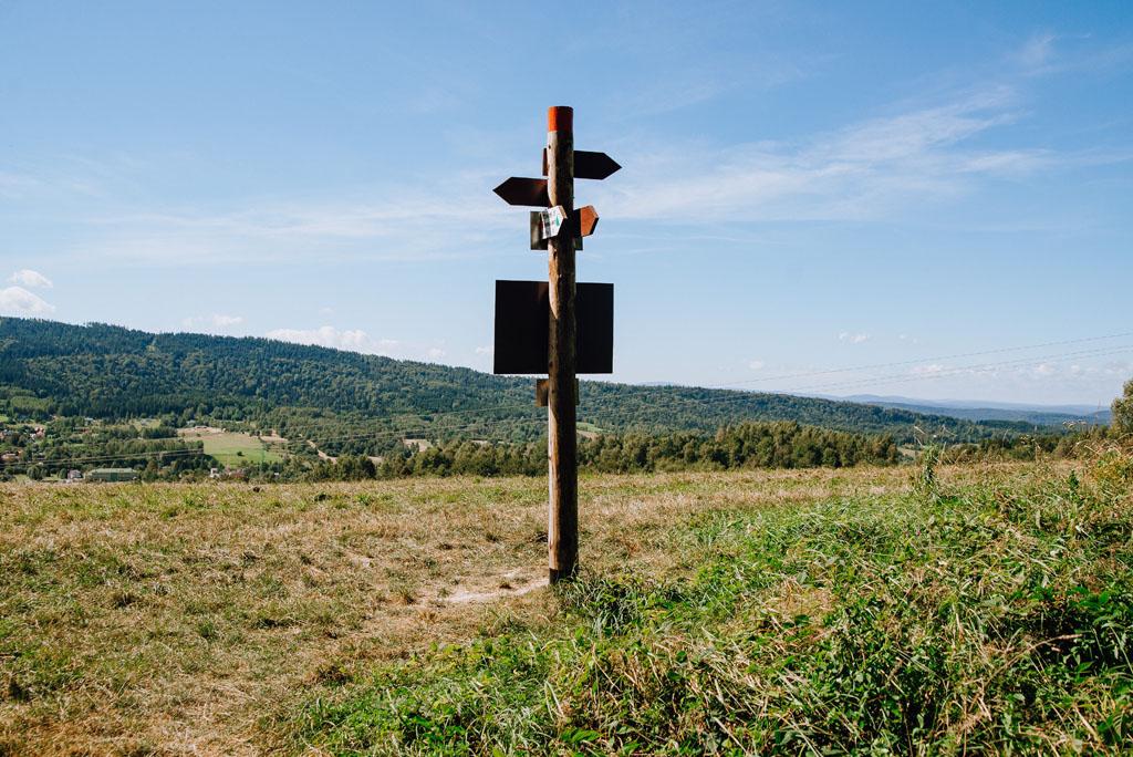Odejście zielonej ścieżki do Ustrzyk Dolnych