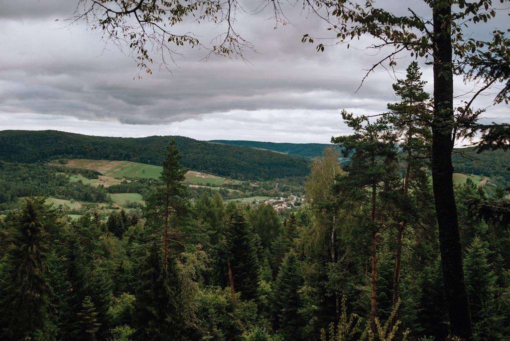 Widoki z Orlika w Ustrzykach Dolnych