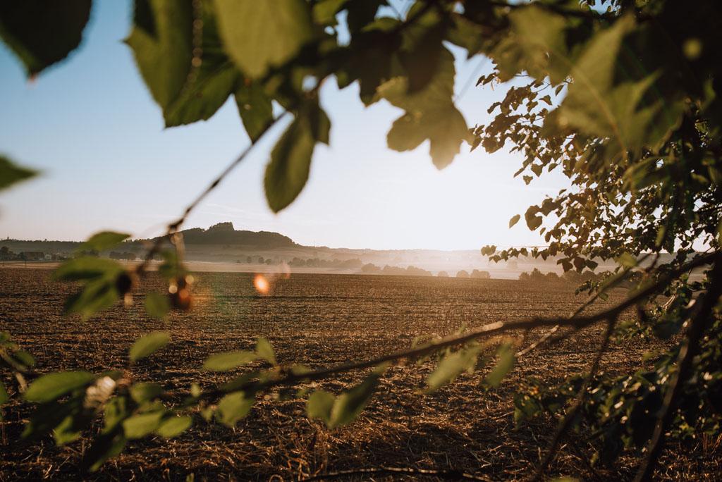 Pogórze Kaczawskie wschód słońca