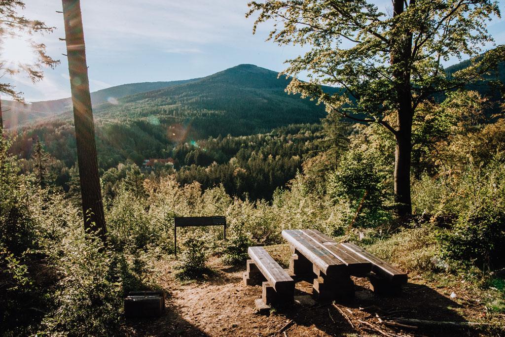 Punkt widokowy Pohulanka na PZU Trasy Zdrowia Karpacz
