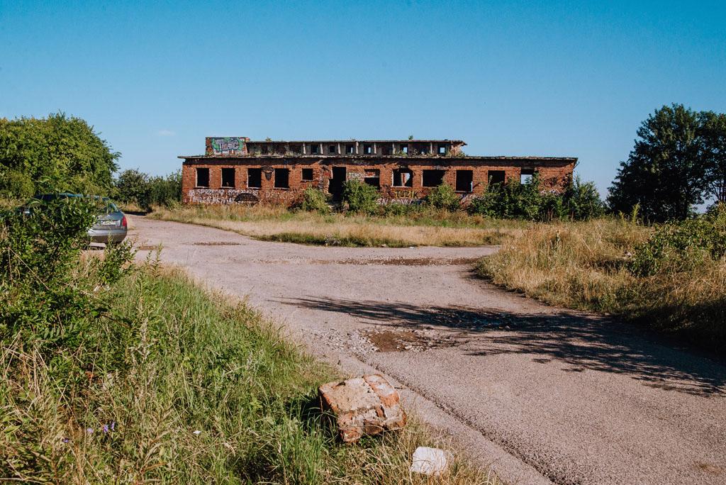 Rozpoczęliśmy przy ruinach niemieckiej radiostacji Rudiger