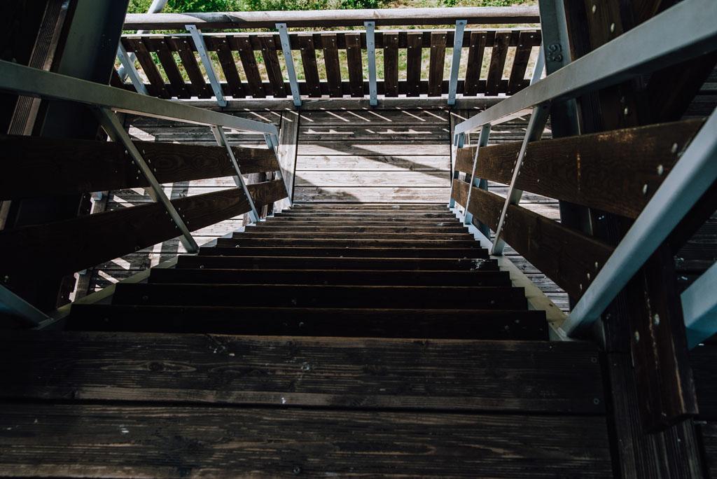 Strome schody wieża widokowa Mściwojów