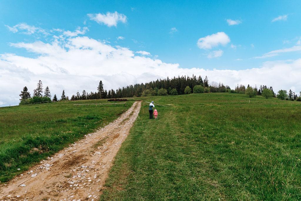 Szlak na Ostrysz z dzieckiem