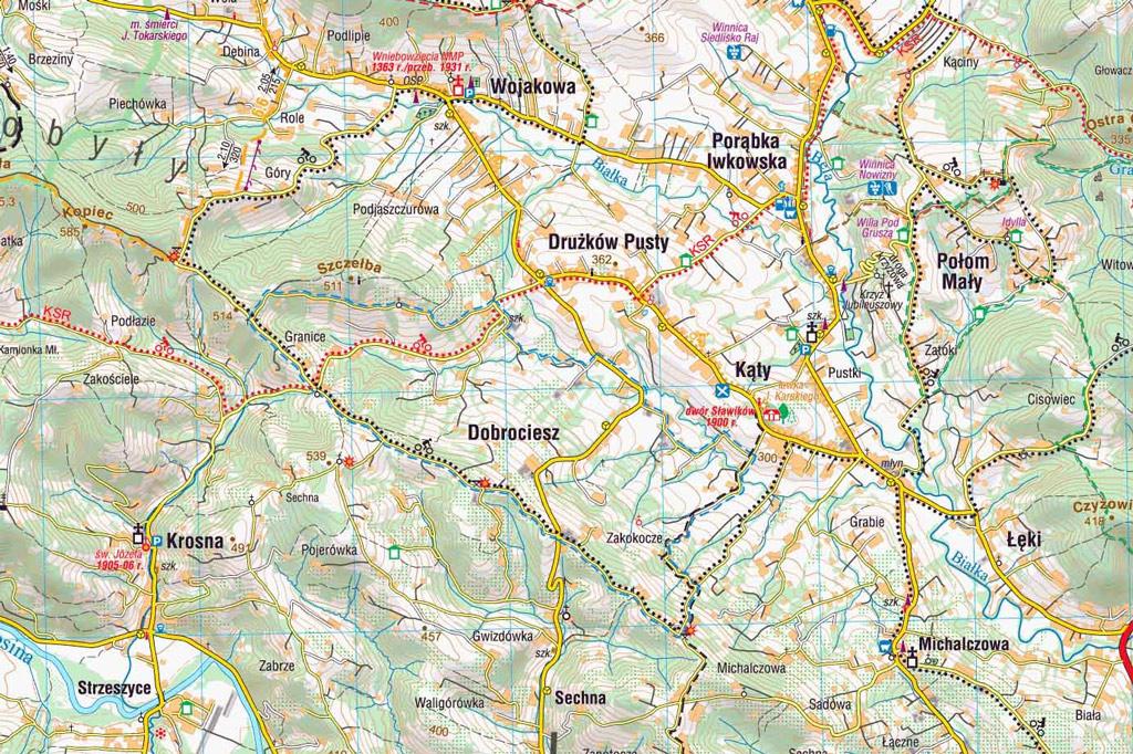 Szlak Suszonej Śliwki - mapa
