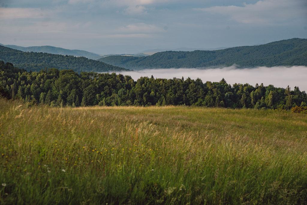 Widok na góry Słowacji