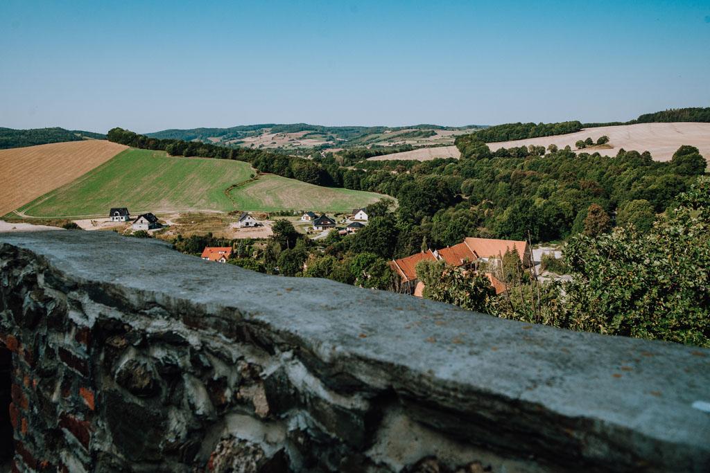 Widoki z Zamku Bolków