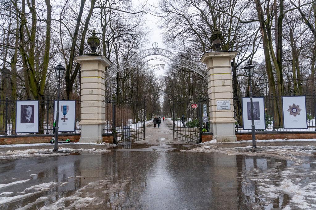 Wejście do Łazienek Królewskich