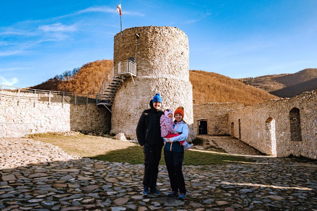 Zamek w Rytrze - my na szlaku
