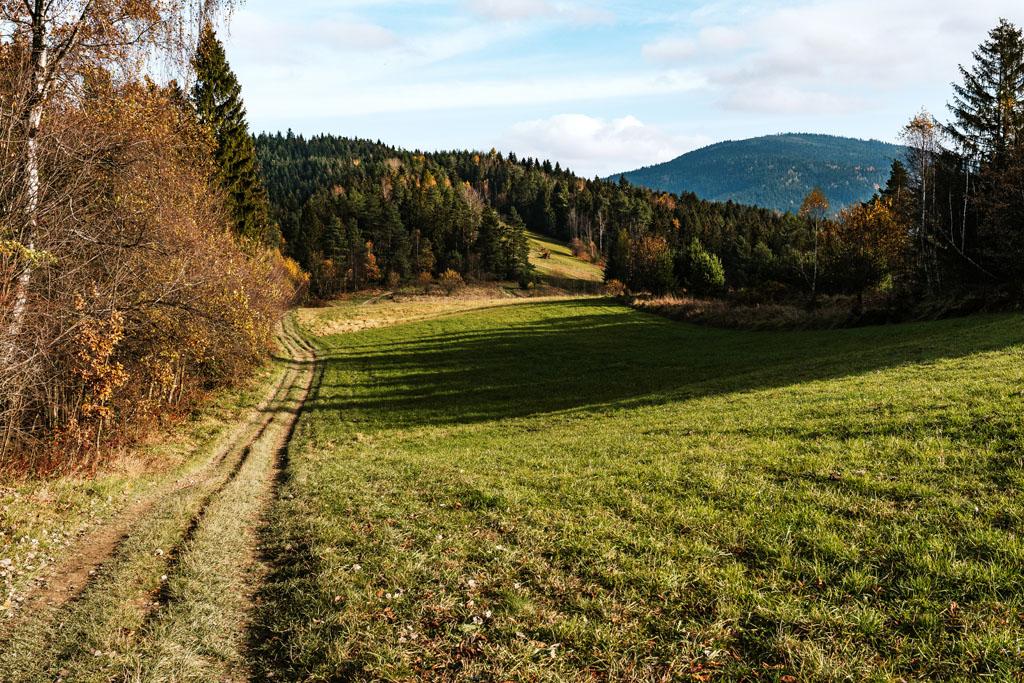 Szlak górski na Ćwilin z Mszany Dolnej