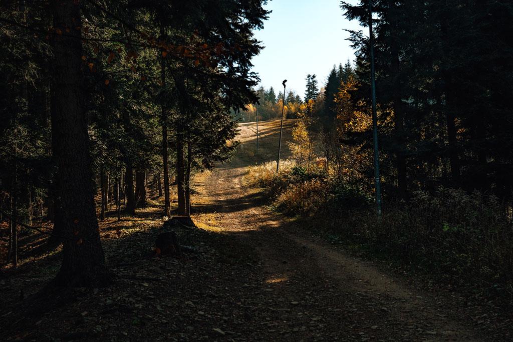 Szlak na Chełm w Myślenicach