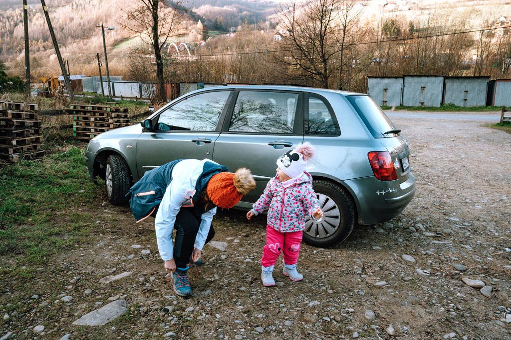 Rytro parking pod Zamkiem