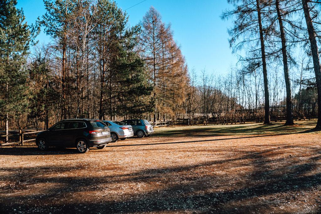 Lasy Wierzchosławickie - parking