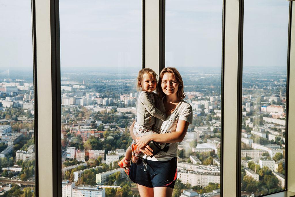 Sky Tower z dzieckiem
