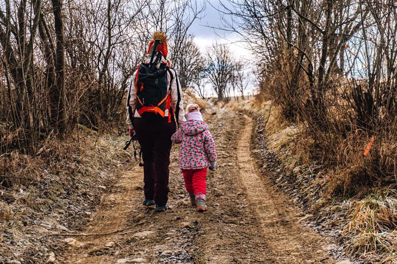 Wejście na Adamczykową z dzieckiem