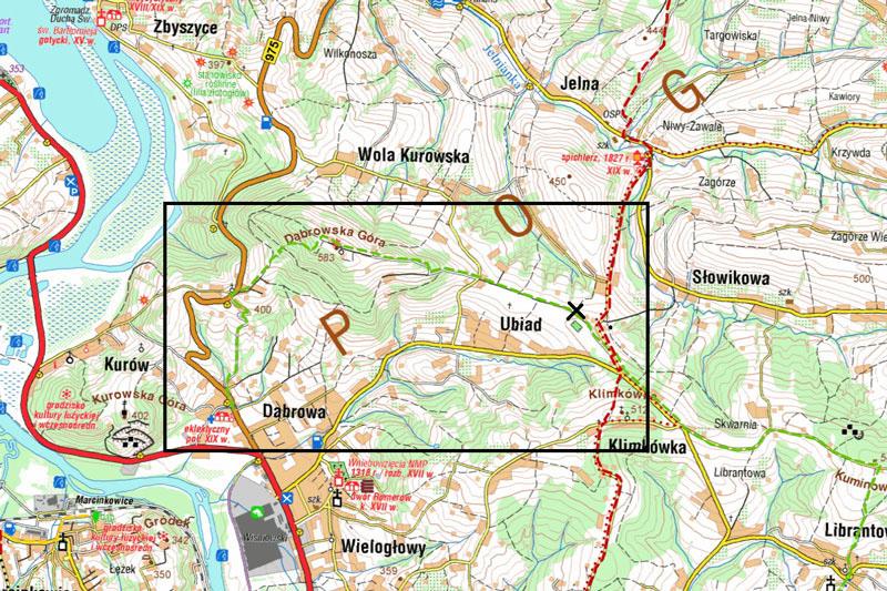 Dąbrowska Góra mapa