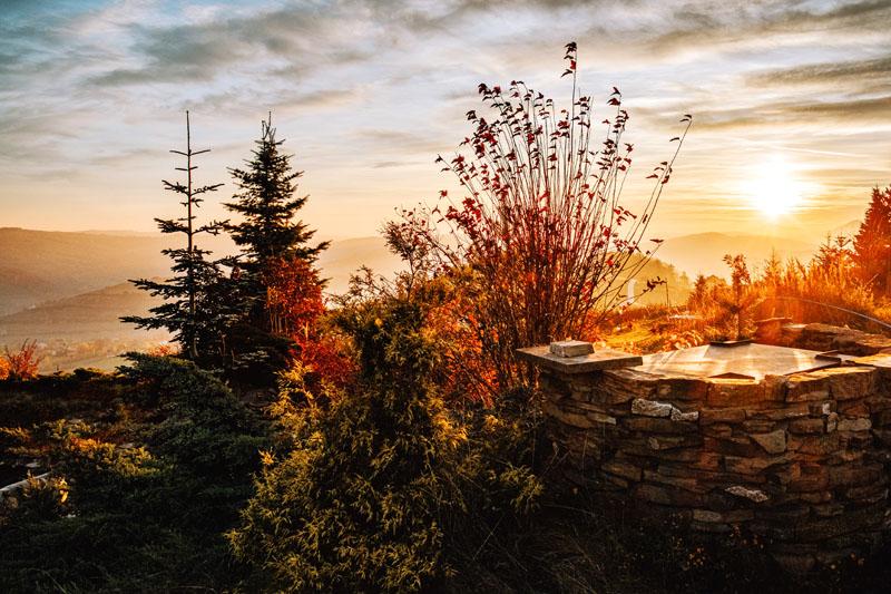 Dąbrowska Góra wschód słońca